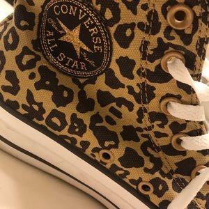 Converse Shoes - Converse Leopard Print High Tops
